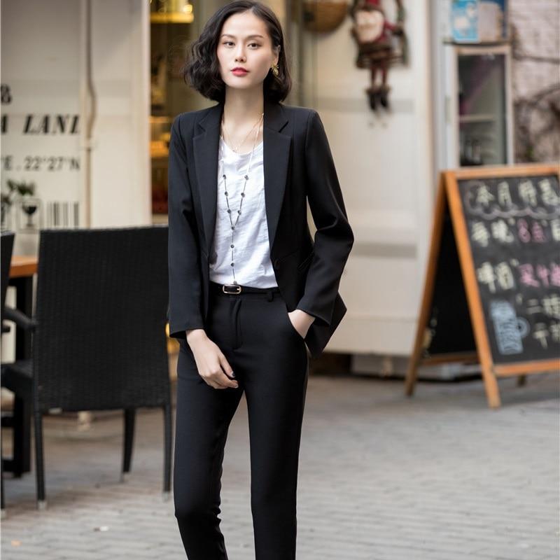 Abiti Giubbotti Del Di Donne Ufficio Giacche Plus Size E Pink Tailleur Usura Delle Uniformi Rosa white Set black Formale Con Pantaloni Pantalone Elegante Signore Per Le Lavoro Iw78Yqxf