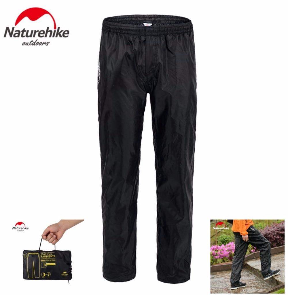 Naturehike Outdoor Camping Hiking Double Zipper Rain Pants Nylon Waterproof Cycling Pants Fishing Trousers Plus Size