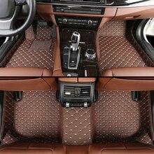 Toyota 용 맞춤형 카 바닥 매트 모든 모델 Corolla Camry Rav4 Auris Prius Yalis Avensis 2014 액세서리 자동 스타일링 바닥 매트
