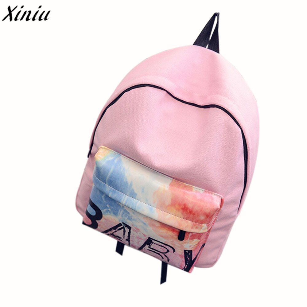 Women Canvas Backpack Pretty Style Daily Schoolbag Candy Color Back Pack College Teenage Girls Rucksack Mochila @6129