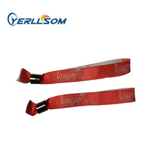 YERLLSOM 200PCS/Lot High Quality Customized Cloth Wristbands With Woven Logo fabric wristbands For Events F19050801