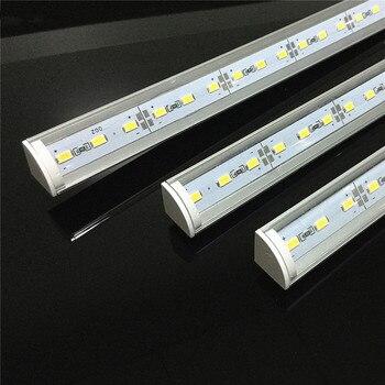 5 قطعة DC12V جدار الزاوية LED مصباح بار 5730 36 50 سنتيمتر V شكل الألومنيوم 5630 الصلب جامدة قطاع مصباح كابينة