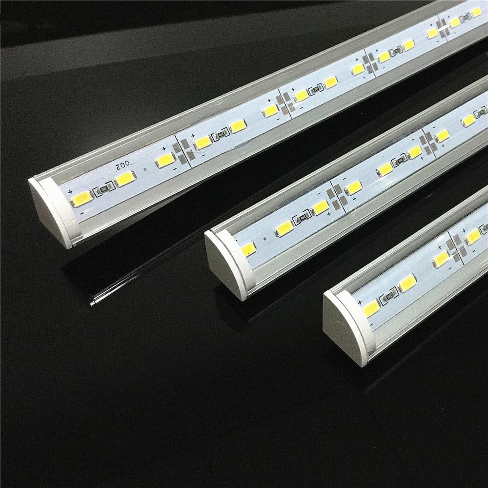 5 stücke DC12V Wand ecke LED Bar Licht 5730 36 LED 50 cm V form Aluminium Profil 5730 5630 LED hard Starren Streifen Licht Schrank Lampe