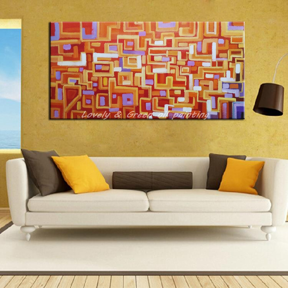 Handpainted Poster Wall Art Canvas Oil Painting Modern Abstract ...