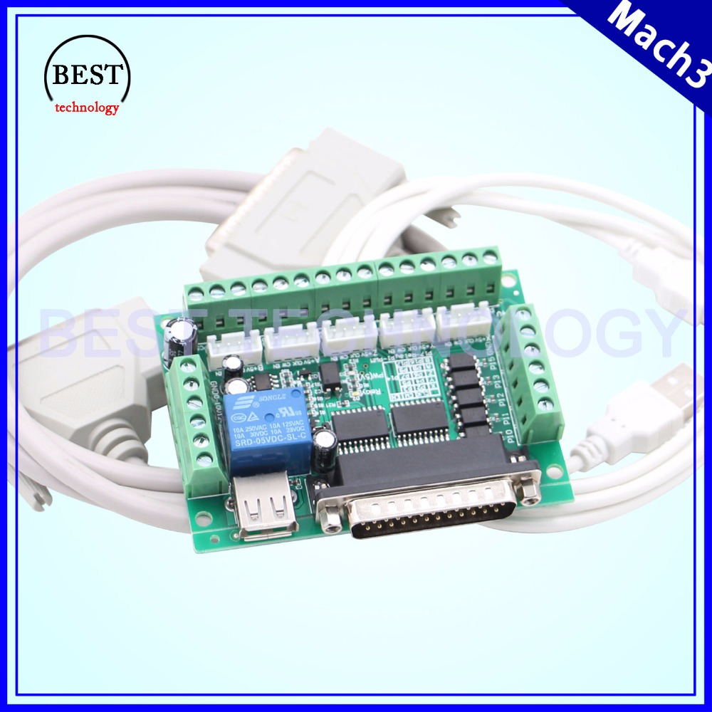 Mach3 Paraller port controller board DB25 controller 5 axis CNC controller USB power supply CNC interface Optocoupler isolationMach3 Paraller port controller board DB25 controller 5 axis CNC controller USB power supply CNC interface Optocoupler isolation
