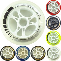 8PCS Ultra resistant high speed projectile round PS shoes wheel 85A 100/110mm speed pulley wheels straight row