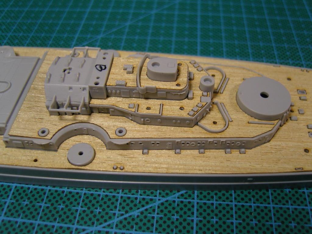 ARTWOX Trumpeter 05711 German battleship Bismarck 1/700 wood deck AW20007