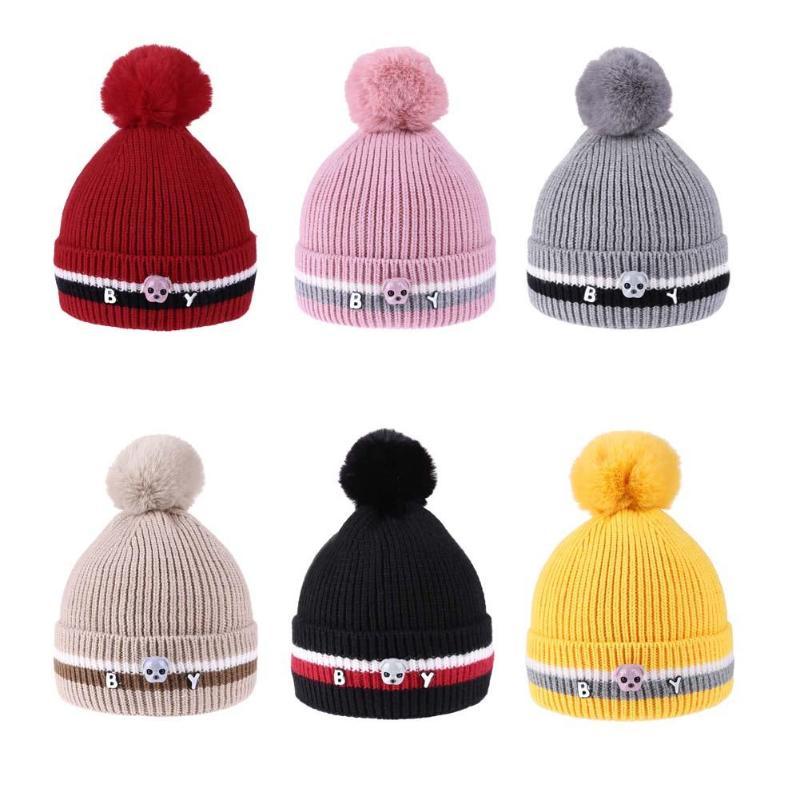 Newborn Baby Kids Boys Girls Warm Hat Winter Cute Dog Beanie Fur Pompon Cap