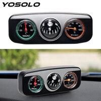 YOSOLO 3 في 1 دليل سيارة الكرة البوصلة ميزان الحرارة رطوبة سيارة التصميم ل السيارات قارب المركبات سيارة زخرفة الداخلية اكسسوارات