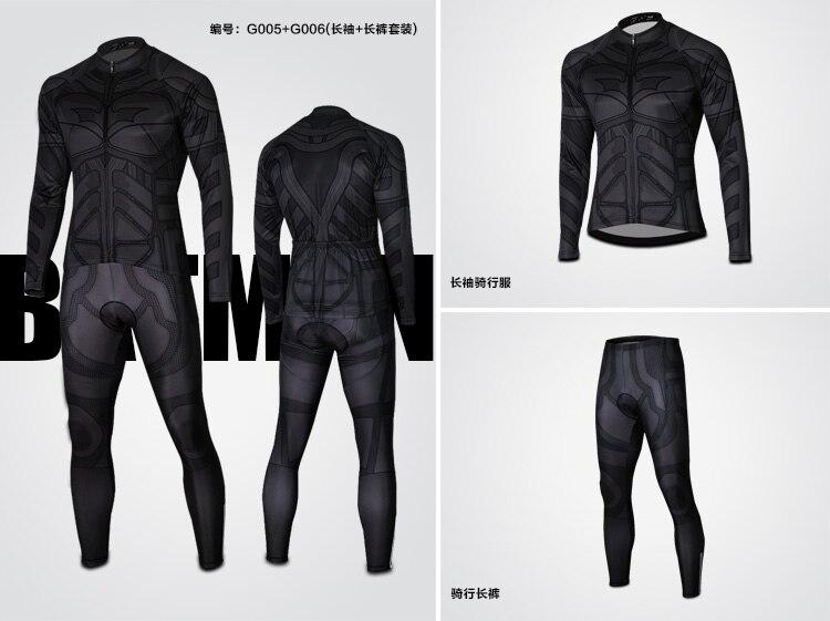9e0bed987 Superhero Sports wear Captain America Superman Spiderman Iron Man Long  Sleeve Cycling bike Clothing Jersey+pants shorts kit set-in Cycling Jerseys  from ...