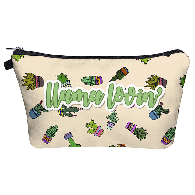 Llama in the Desert Cosmetic Bag