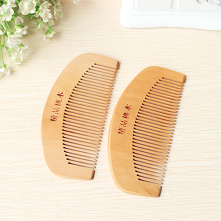 C53 Wooden comb peach natural wooden anti-static fine wooden comb цена