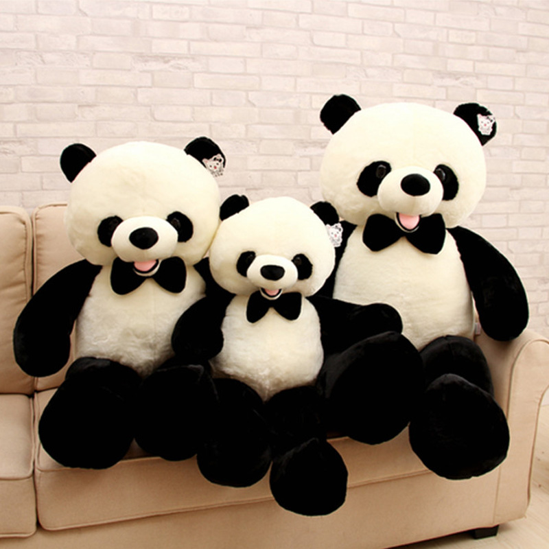 Fancytrader Big Fat Panda Plush Toys Giant Soft Stuffed Animals Cute Panda Doll Pop Gifts for Children 3 Sizes fancytrader big giant plush bear 160cm soft cotton stuffed teddy bears toys best gifts for children