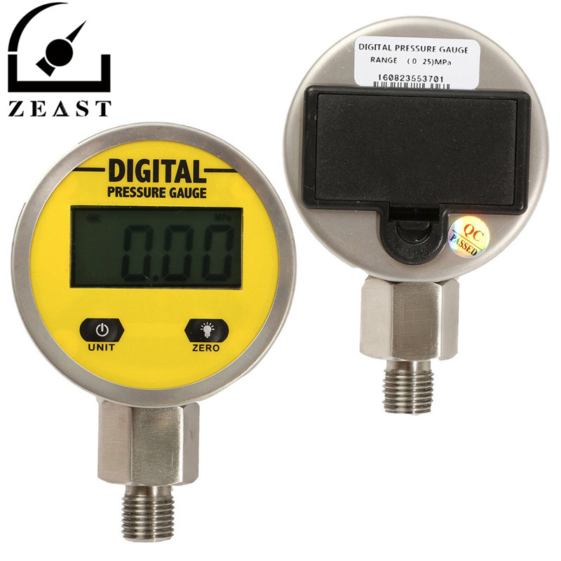 цена на Brand New 3V 250BAR/25Mpa Digital Display Oil Pressure Hydraulic Gauge Pressure Test Meter For Gas Water Oil Durable