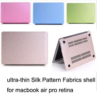2015 Ultra Thin Silk Pattern Fabrics Protective Shell For Macbook Air 11 6 Inch Hot Sale