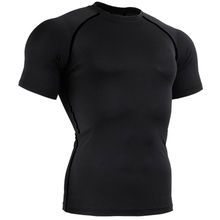 Newest fitness running t shirts short sleeve basketball sports t shirt men muscle bodybuilding gym compression tights shirt