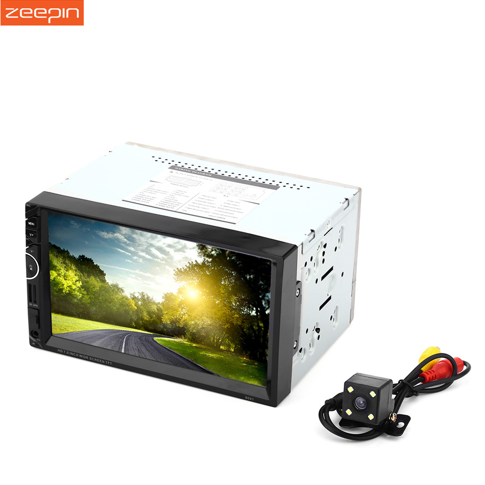 8001 RDS GPS Navigation 2 Din Car Radio Player Car Video Player Auto Stereo FM USB AUX Bluetooth Remote Control Rear View Camera 7 hd 2din car stereo bluetooth mp5 player gps navigation support tf usb aux fm radio rearview camera fm radio usb tf aux