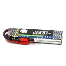 2S RC LiPo battery 7.4v 2600mAh 40C Max 80C For RC Airplane Drone Car batteria Lithium AKKU free shipping
