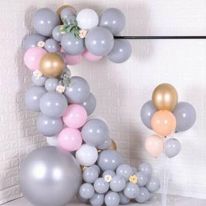 Image 5 - 20 adet 30 adet 50 adet 5 inç 10 inç Pastel gri balonlar mat gri Macaron balon düğün süslemeleri doğum günü parti malzemeleri
