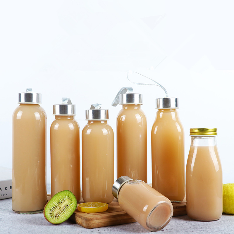 Creative Cold Tea Bottle Juice Beverage Bottle Camellia Milk Tea Bottle Fermentation Bottle