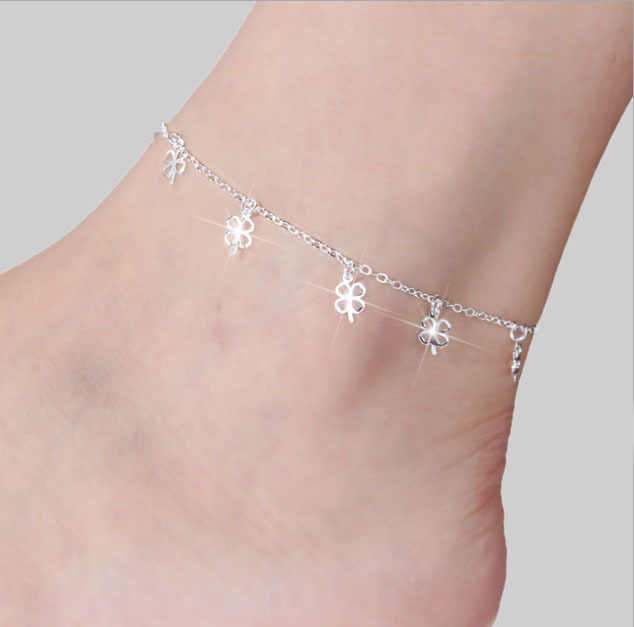 Fashion Silver Color moda praia Charms Anklets Bracelet on The Leg Sea Summer Beach Foot Jewelry Tobilleras De Plata Para Mujer