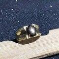 HOMEM Anel de 925 anel de prata do vintage 6*8mm Luz Da Estrela anel de Safira naturais anel do rei para o homem moda homem jóias de prata