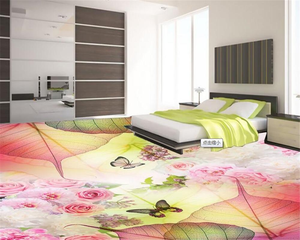 Beibehang Premium Estética Da Moda Textura Da Folha de Papel De Parede pintura do piso revestimento de papel de parede 3d Tridimensional
