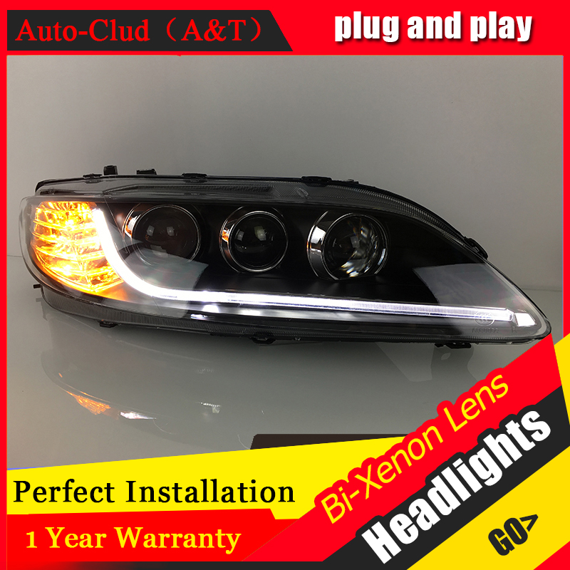 Auto Clud Car Styling for TLZ Mazda 6 Headlights 2012 for Mazda6 LED Headlight DRL Lens Double Beam H7 HID Xenon bi xenon lens hireno headlamp for 2010 2012 kia sorento headlight assembly led drl angel lens double beam hid xenon 2pcs