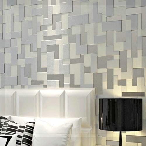 Relevo 3d estereosc pico quarto moderno papel de parede tv - Papel pared moderno ...
