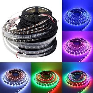 5 V WS2812B inteligentna dioda LED taśmy WS2812 RGB 5M wodoodporna lampa indywidualnie adresowalne RGB LedStrip pikseli 30 led/m 60 led/m 5 V