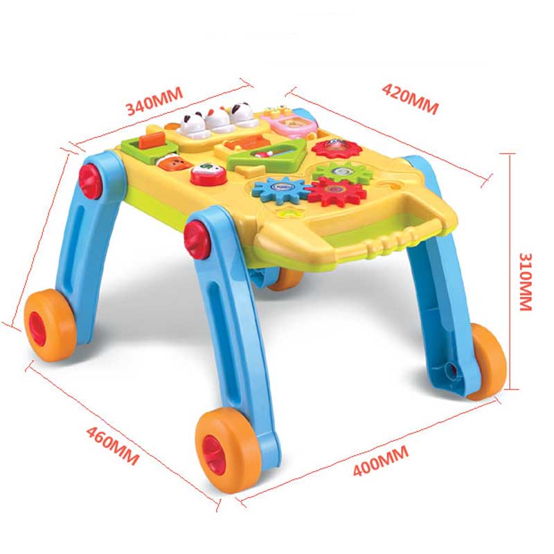 Aliexpress.com : Buy Baby Music Game Table Multifunction 2 In1 Early  Childhood Folding Baby Boy First Walkers With Wheels Toy 0 1 Years From  Reliable Toys ...