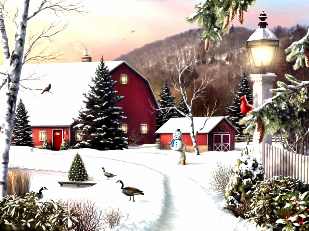 Popular winter landscape paintings buy cheap winter for Wall scenes