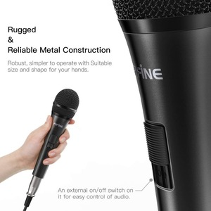 Image 3 - Fifine dinamik mikrofon hoparlör vokal mikrofon ile On/Off anahtarı içerir 14.8ft XLR 1/4 bağlantısı