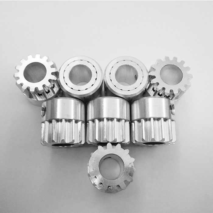 4 ピース/ロット平歯車ピニオン 14 t 14 歯 Mod 1 メートル = 1 ボア 8 ミリメートルアルミ CNC ギアラック伝送
