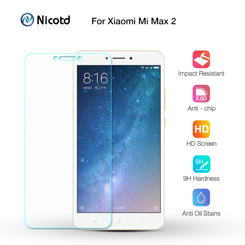 Nicotd Film-Screen Screen-Protector Tempered-Glass Xiaomi Mi-Max2 9h-Film For Transparent