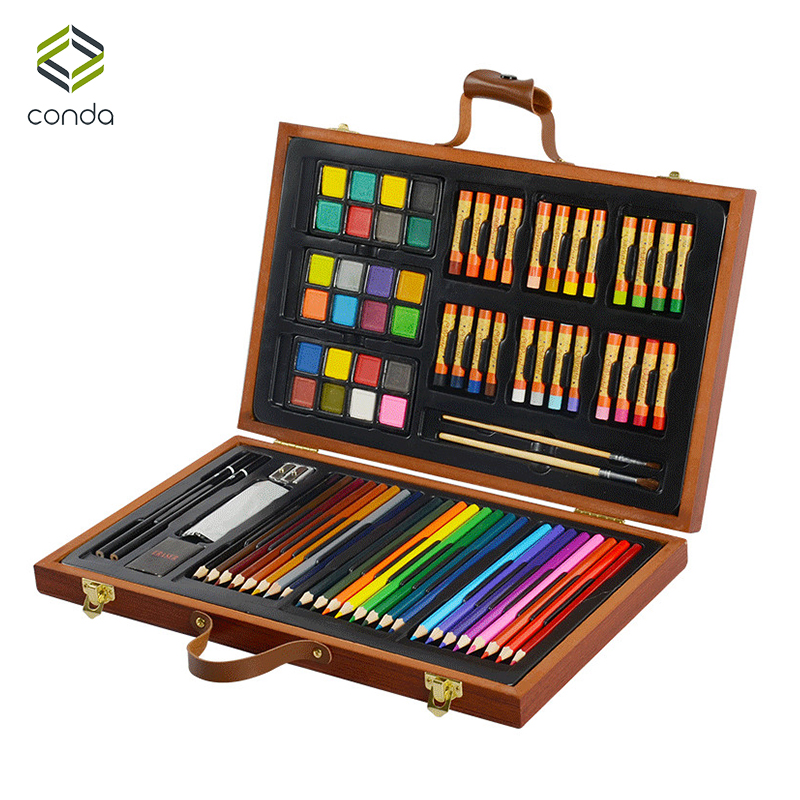 Conda 79pcsset Deluxe Wood Art Set For Kids In Wooden. Cash Drawer Sheet. Contemporary Console Tables. Vanity Tables With Lights. Fabric Drawer Organizers. Desk Lamp Good For Eyes. Bistro Table Set Outdoor. Rit Its Help Desk. 3 Piece Pub Table Set
