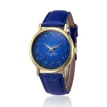 2017 NEW Retro Design Leather Band Analog Alloy Quartz Wrist Watch   L7202