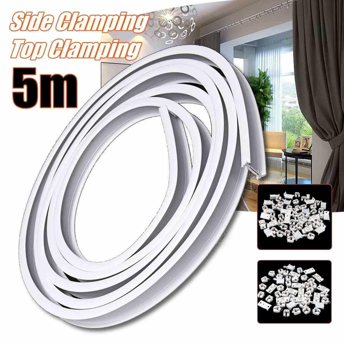 5m flexible ceiling mounted curtain track rail straight slide windows balcony plastic bendable home window decor accessories