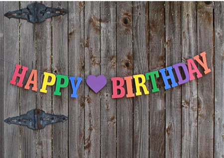 Custom Letter Non Woven Fabric Garland Happy Birthday Banners Party Decoration Baby 1st Party Hot Rainbow Ombre Bunting Banner Banner Clip Decorative Flags And Bannersbanner Fabric Aliexpress