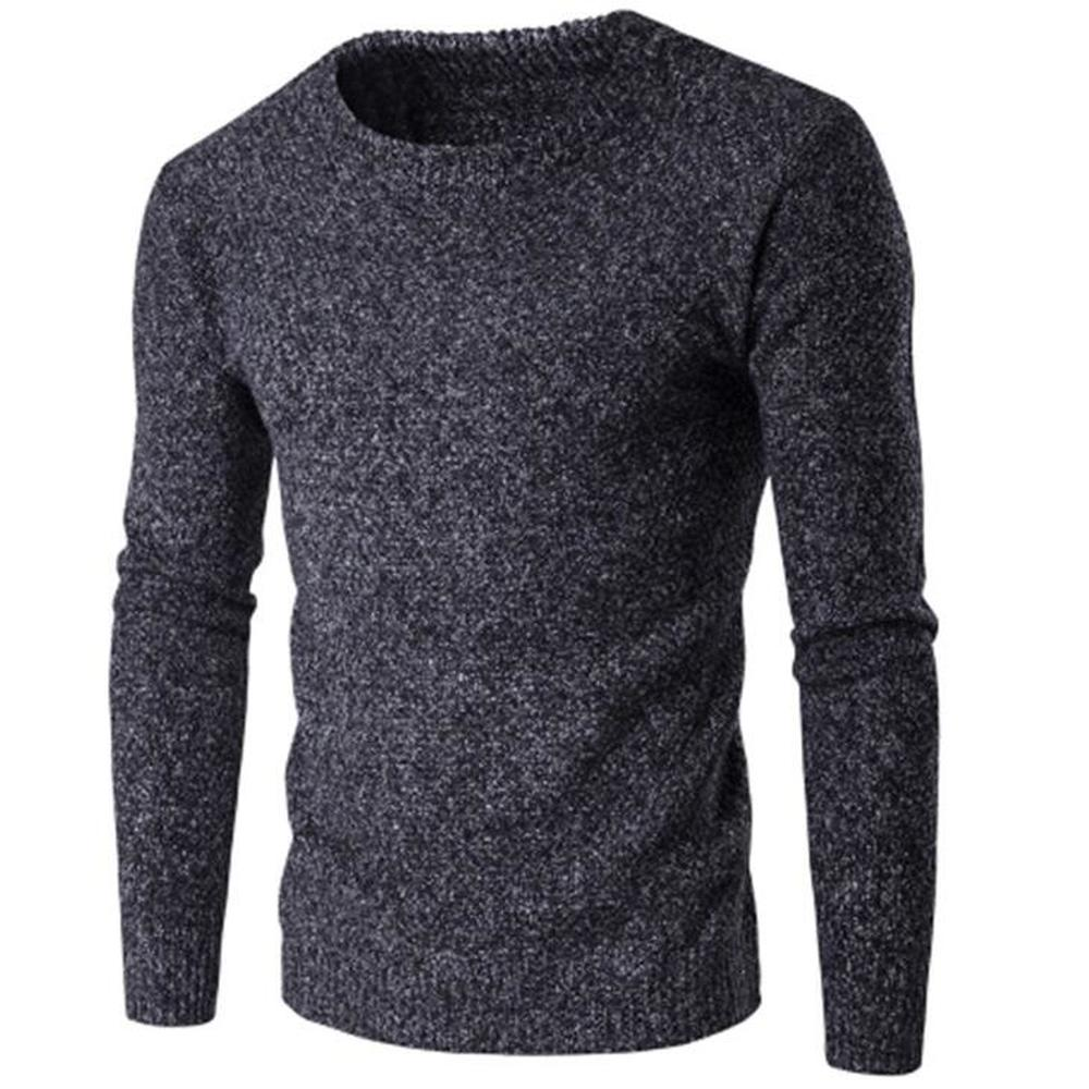 2018 Herbst Pullover Slim Fit Herren Gestrickte Pullover Winter Männlichen Langarm Mode Kleidung Oansatz Verdicken Warme Pullover