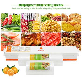 ATWFS Food Vacuum Sealer Packing Sealing Machine Including 15Pcs Bags and Vacuum Bag Packaging Rolls 20cmX500cm+12cmX500cm