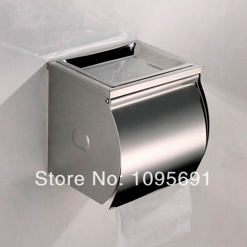 ФОТО Waterproof stainless steel toilet paper box roll holder toilet paper holder tissue box