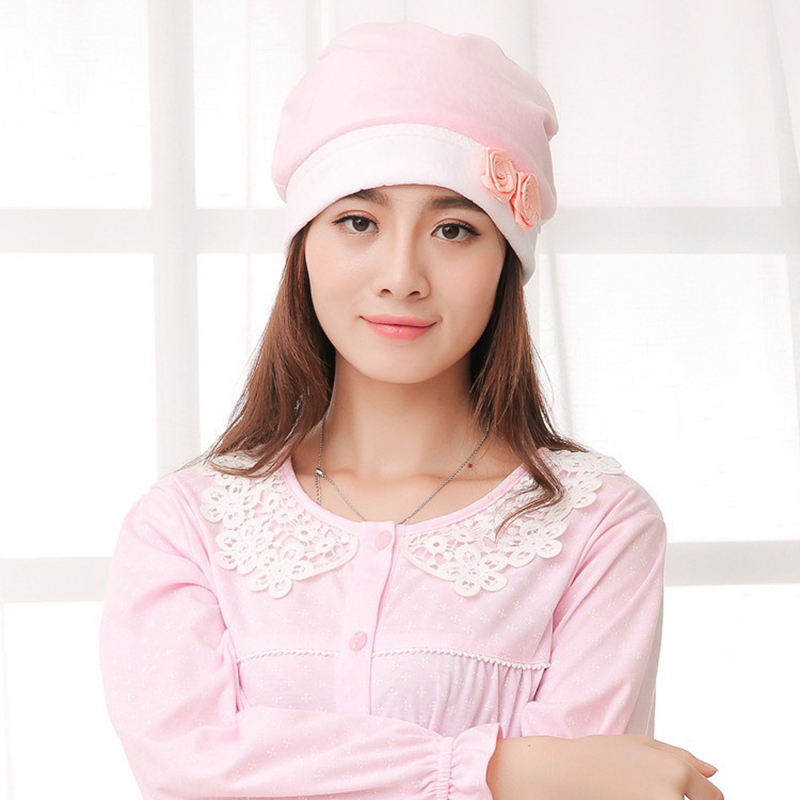 New hot fashion polka dot bow head wind proof cap cap confined cap maternal pregnant women baby cap