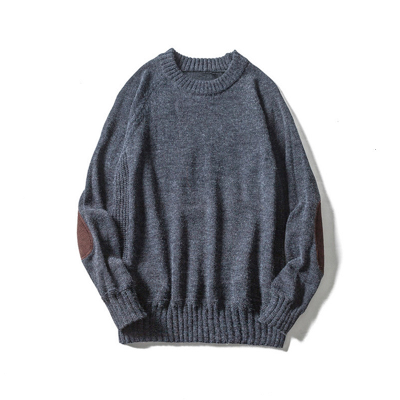 2017 New Fashion Design Japanese Style O Neck Long Sleeve Pullovers Patchwork Wool Mens Knitwear Sweaters M~3xl