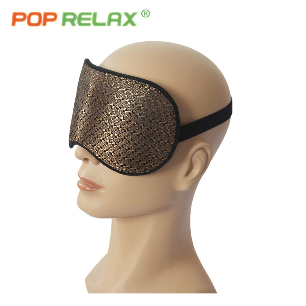 Купить с кэшбэком POP RELAX Korea tourmaline stone eye mask USB electric infrared heating therapy ion germanium thermal health care relaxing patch