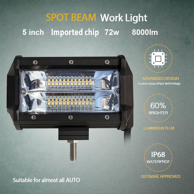 CO LIGHT 5 inch Led Work Light Bar