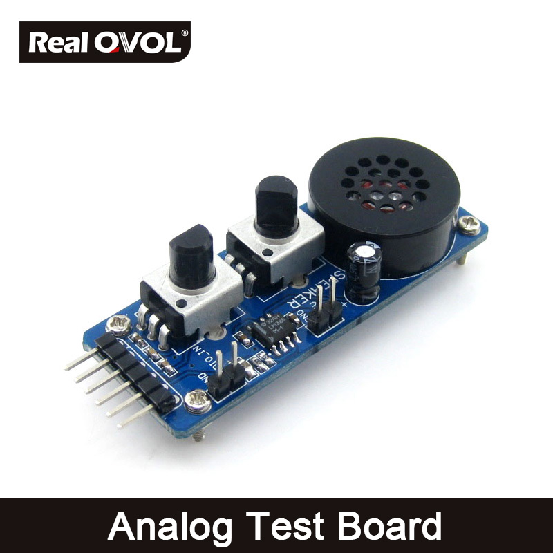 Analog Test Board Analog Input/Output Module For Testing Integrated AD/DA Function MCUs With LM386M,Speaker Adjustable Resistor