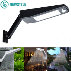 48/60 LED Wireless Solar Lights LED Outdoor Decor Waterproof PIR Motion Sensor Solar Wall Light For Garden Street Solar Lamps