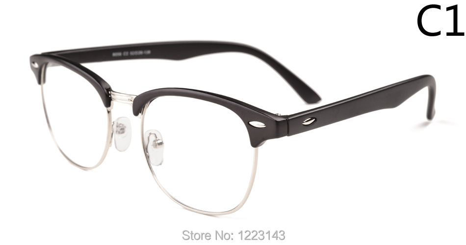 trendy specs frames  Retro glasses men and women fashionista star half frame plain ...