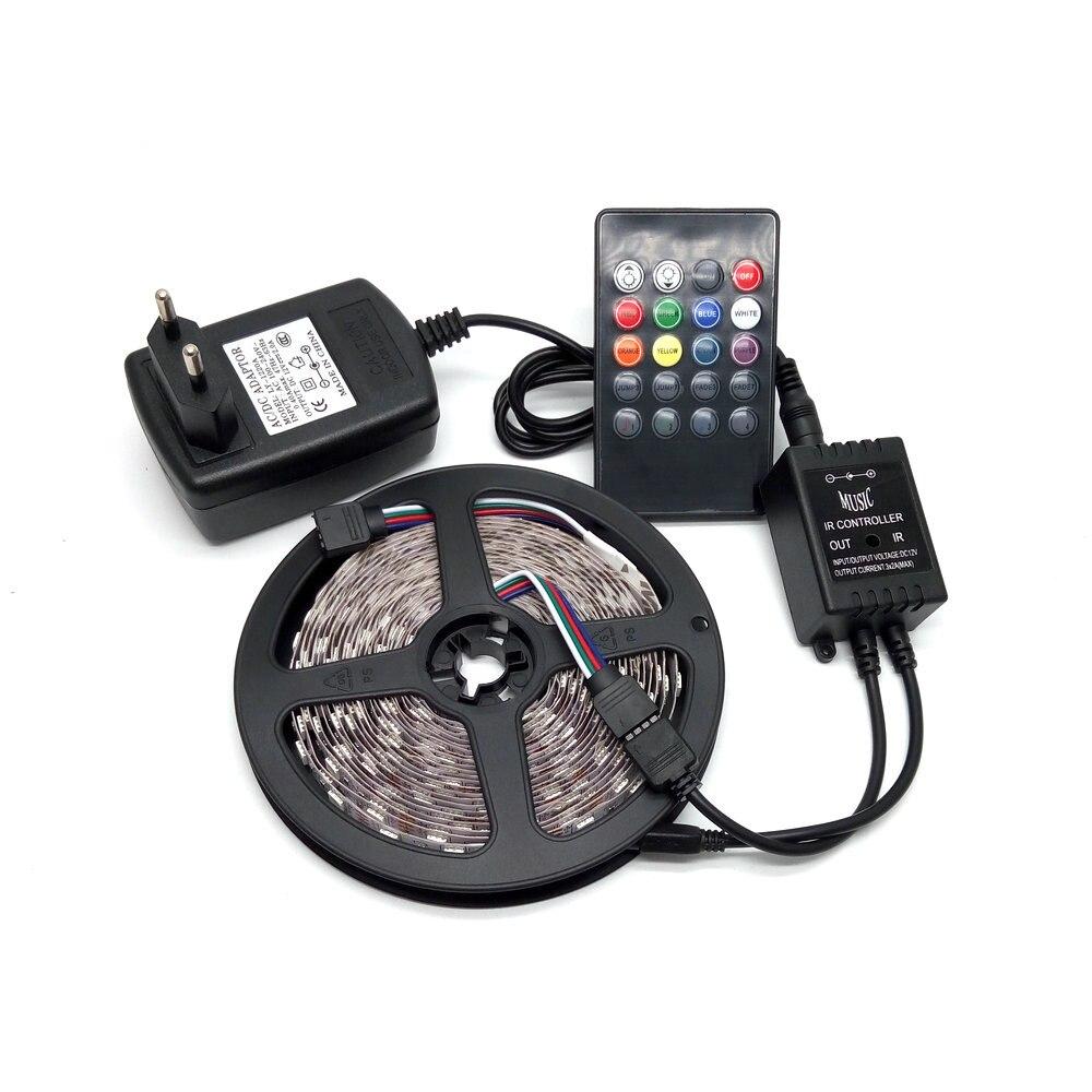 Luz de tira LED 5050 RGB 5M 300 Juego de luces de tira flexible no - Iluminación LED